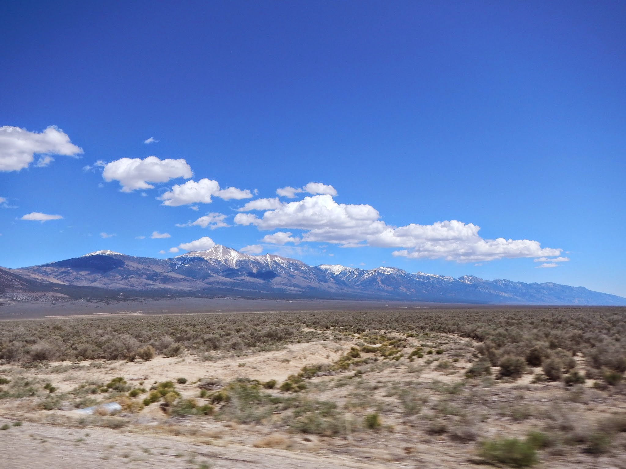 Photo: Driving into the park from the west, Wheeler Peak comes into view.