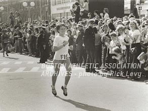 Photo: Jacqueline winning Boston 1973
