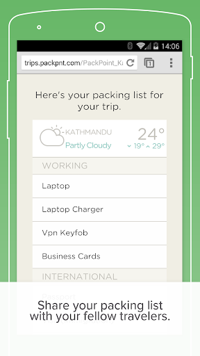 PackPoint travel packing list screenshot 6