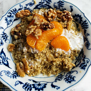 Coconut Mandarin Orange Quinoa Breakfast.