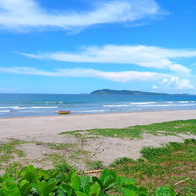 Blue Sky by Anjsh Lacanlale - Landscapes Beaches ( sky, blue, waves, summer, beach )
