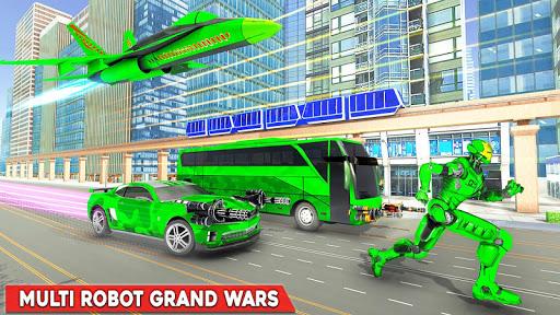 Army Bus Robot Transform Wars u2013 Air jet robot game screenshots 4