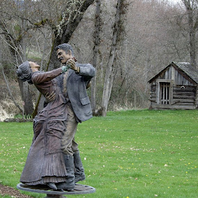 We will Dance for Ever by Ann Marie - Buildings & Architecture Statues & Monuments ( ststue, monument, couple, dance,  )