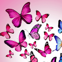 pink butterfly wallpapers icon