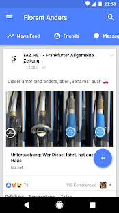 Touch für Facebook Screenshot