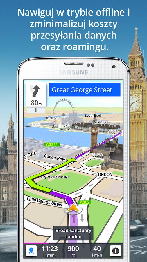 GPS Nawigacja i Mapy Sygic – zrzut ekranu