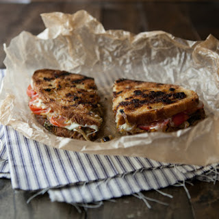 Caramelized Onions, Pesto, and Grilled Mozzarella Sandwich Recipe
