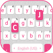 Pink White Chat Keyboard Theme