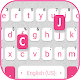 Download Pink White Chat Keyboard Theme For PC Windows and Mac