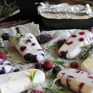 Fruit Popsicles With Coconut Milk.