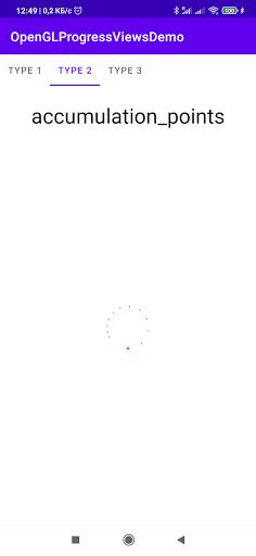 OpenGLProgressViewsDemo screenshot 2