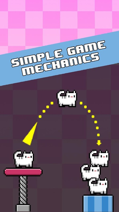 Cat-A-Pult: Toss 8-bit kittens- screenshot