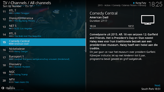 Kodi Capture d'écran