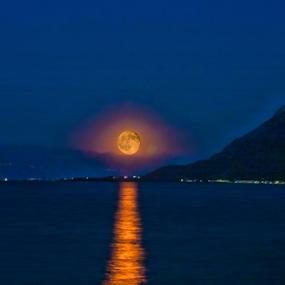 Moonset by Mikhail Romanovski - Landscapes Waterscapes (  )