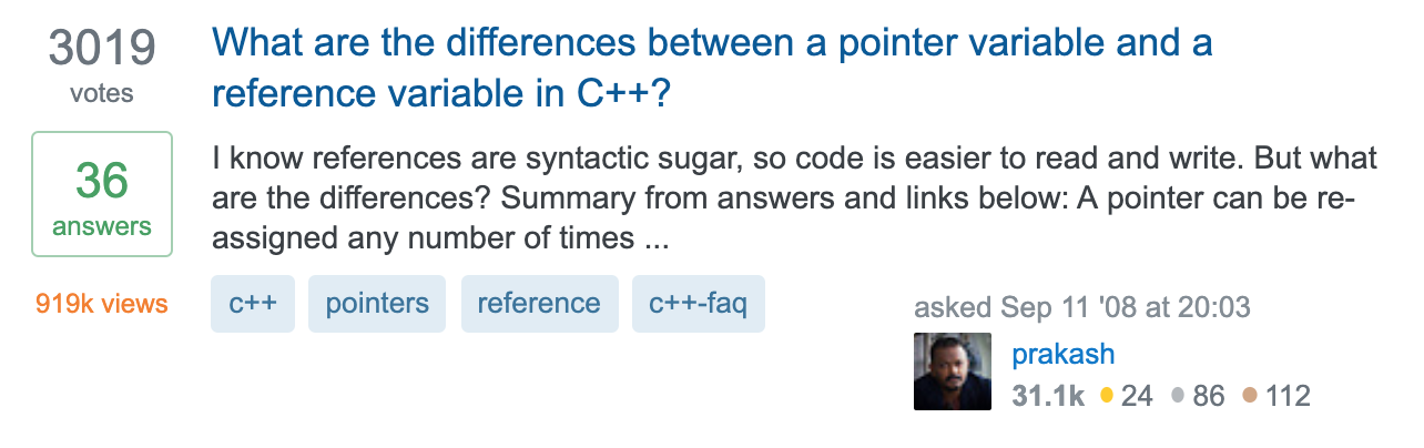 What-are-the-differences-between-a-pointer-variable-and-a-reference-variable-in-C---