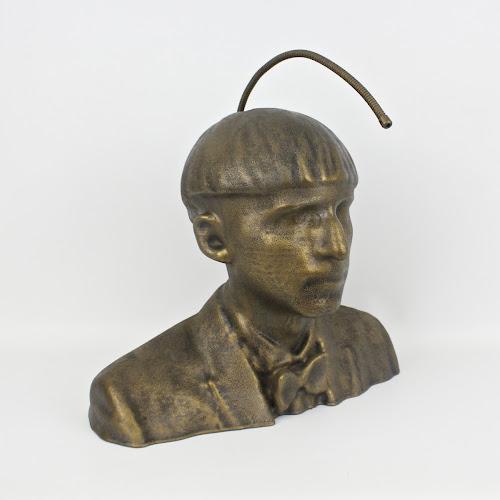 Cyborg Sculpture of Neil Harbisson