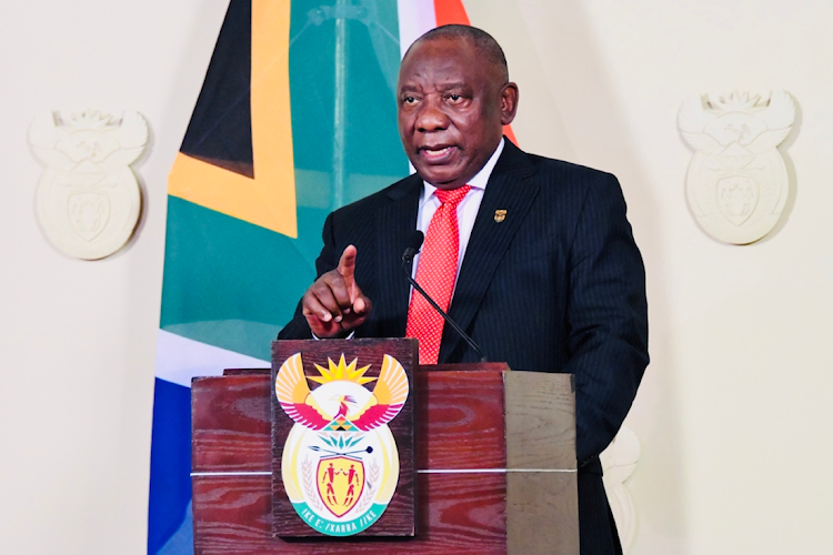 President Cyril Ramaphosa says the vital lesson from the pandemic is 'the necessity for collective leadership, collaboration, solidarity and innovation among the countries of the world'. File photo.