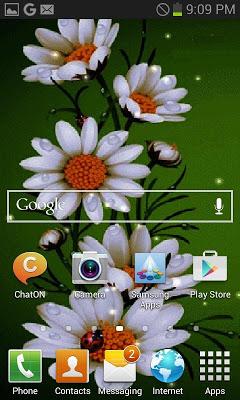 White Flowers Beauty LWP - screenshot