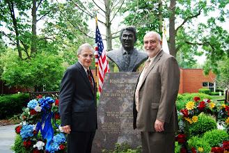Photo: Dr. Richard Sanders and Eureka College President J. David Arnold, Reagan Memorial 2013