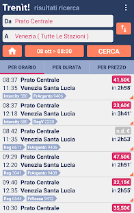 Trains schedules in Italy- screenshot thumbnail