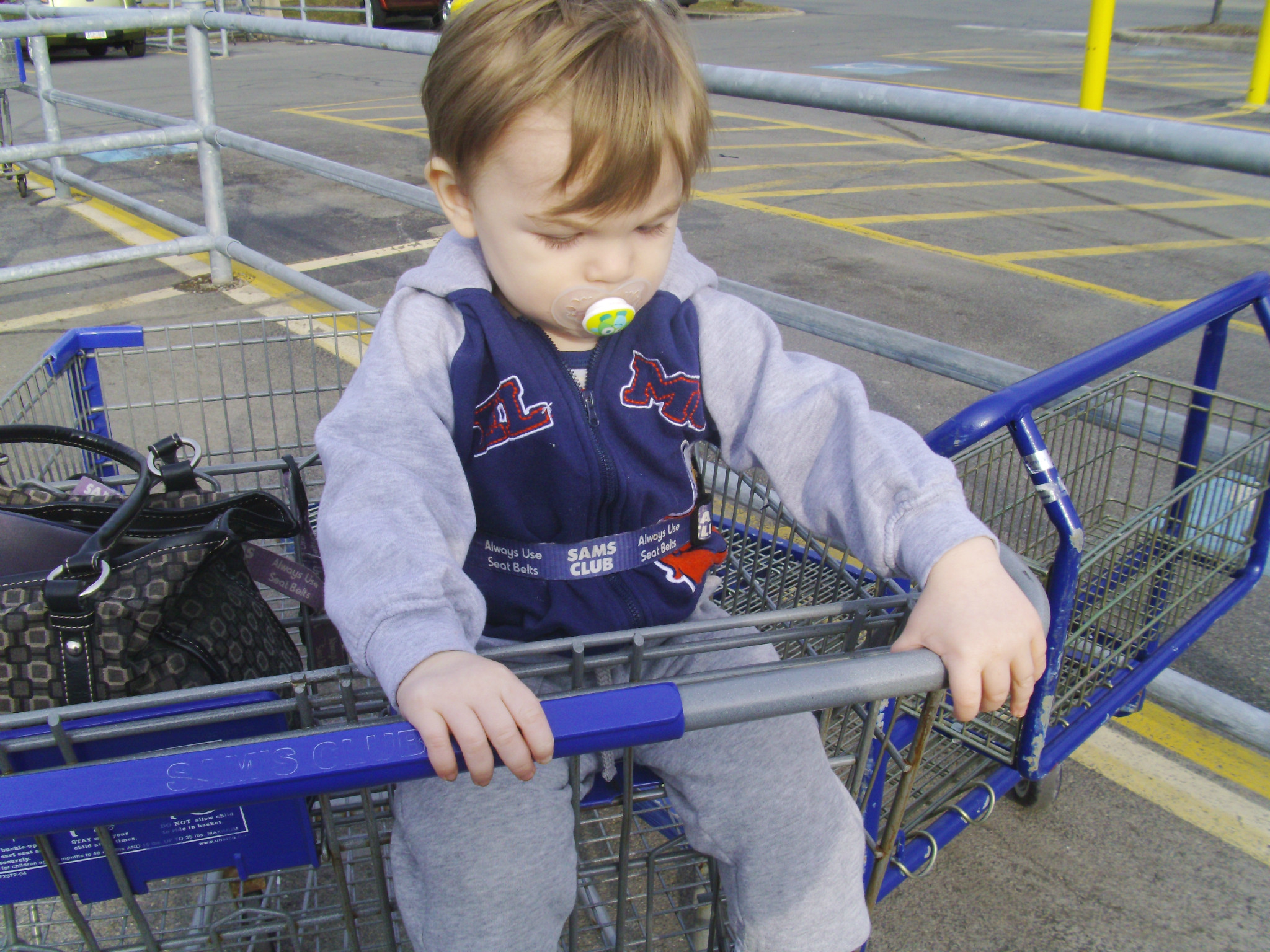 Photo: I was able to park right next to the cart return. It makes it a lot easier when I have my little one!