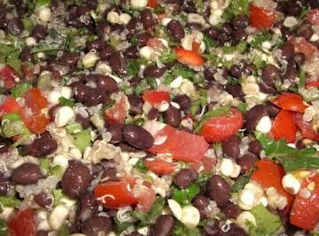 Black bean and quinoa salad with a kick!