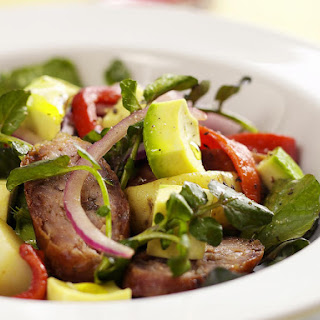 Potato, Sausage and Avocado Salad