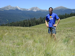 Photo: Me on Hamilton Mesa with the Truchas Peaks in the background
