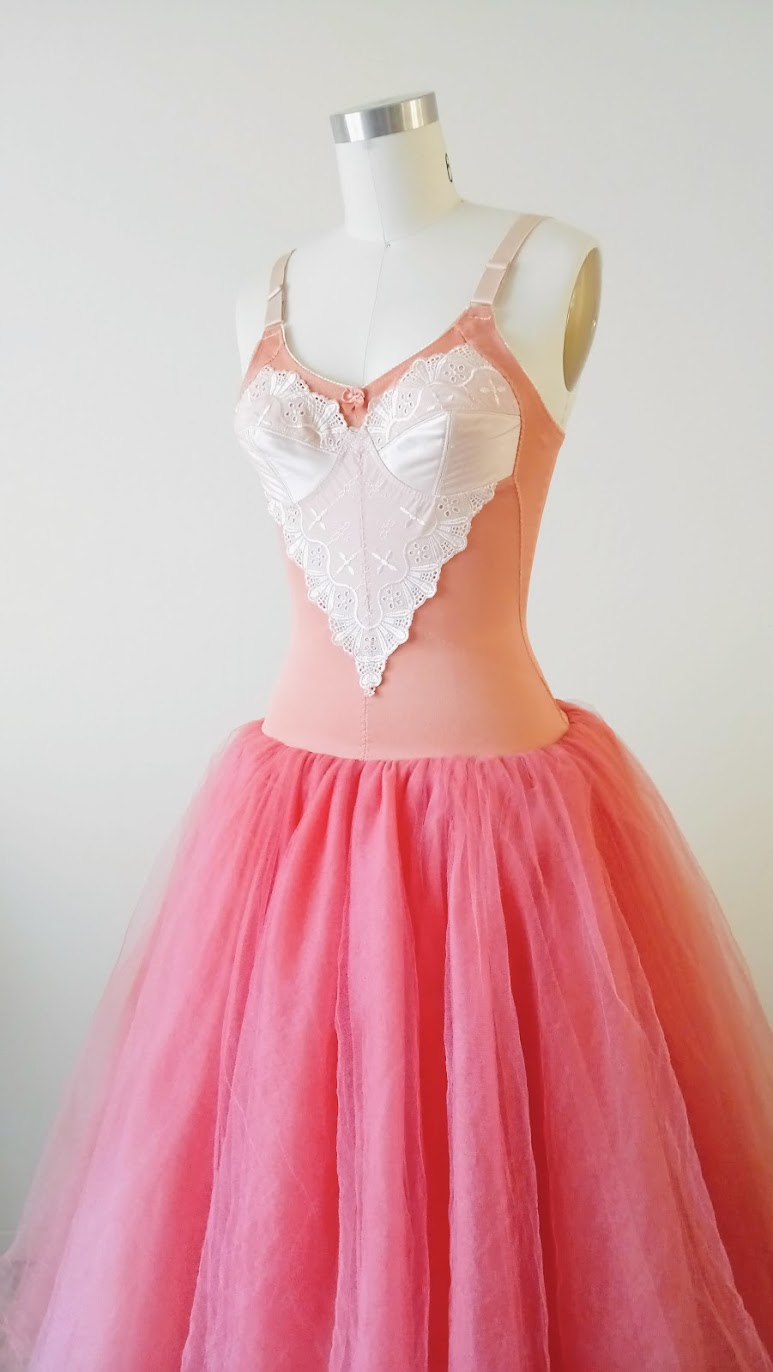 Tulle Skirt Layers In-Progress: Bubblegum Dreaming Cage Dress - DIY Fashion Garment | fafafoom.com