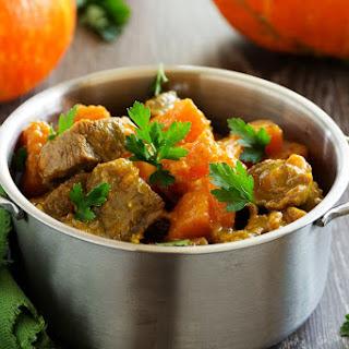 Paleo Beef & Pumpkin Stew In The Slow Cooker.