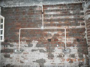 Photo: Electric Conduits, Back Wall, GF Kitchen