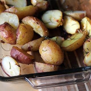 Simple Roasted Garlic Rosemary Potatoes.