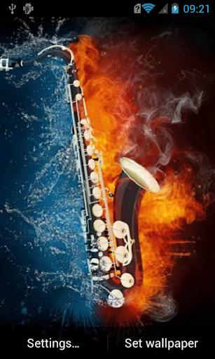 Stylish saxophone Live WP