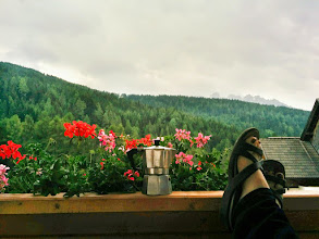 Photo: Enjoying my last day in the mountains.