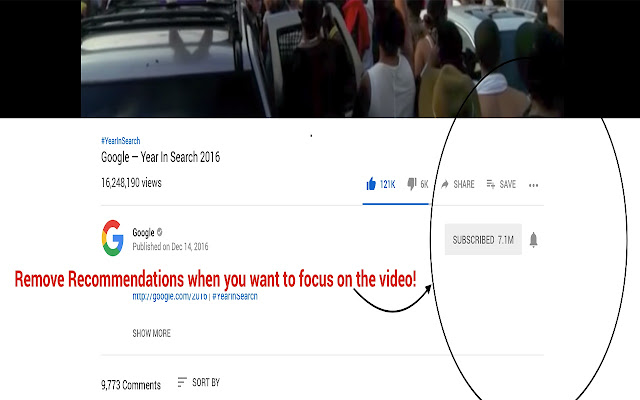 Youtube Focus - Remove Recommendations