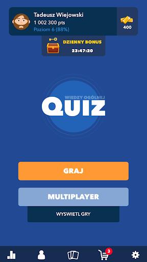 Super Quiz - Wiedzy Ogu00f3lnej Polskie android2mod screenshots 1