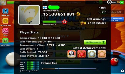 Coins 8 Ball Pool Prank