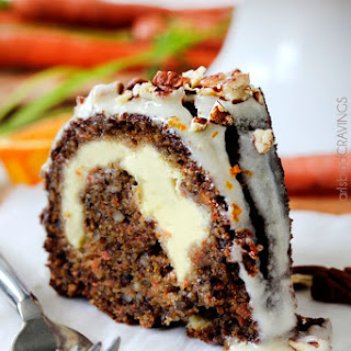 Cream Cheese Stuffed Carrot Cake with Orange Glaze