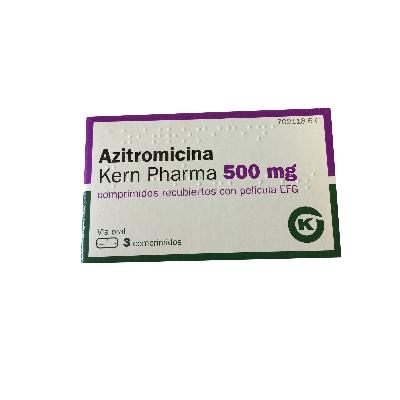 azitromicina 500mg 3comprimidos kern pharma
