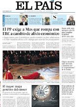 """Photo: El PP exige a Mas que rompa con ERC a cambio de alivio económico, el Papa reza tendido en el suelo de la Basílica de San Pedro y Chipre descarta salir del euro y lamenta ser el """"experimento de la troika"""", en nuestra portada del sábado 30 de marzo, que solo se distribuye en Cataluña http://srv00.epimg.net/pdf/elpais/1aPagina/2013/03/ep-20130330.pdf"""