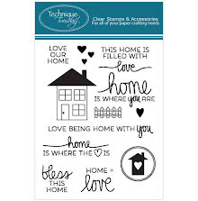 Technique Tuesday Clear Stamps 3X4 - Bless This Home UTGÅENDE