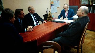 Photo: Spotkanie przedstawicieli Jachtklubu Stoczni Gdańskiej z dyrektorem MOSiR w Gdańsku - Leszkiem Paszkowskim