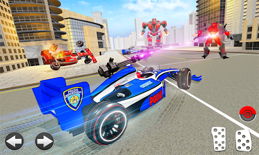 Police Chase Formula Car Transform Cop Robot Games 1.0.0 Mod + Data for Android 1