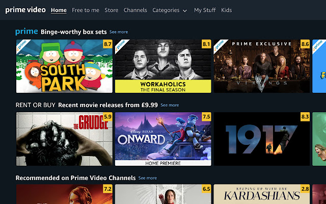 Prime Ratings: IMDb Ratings on Prime Video