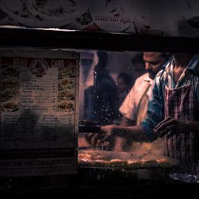 Street Food by Dharmesh Daula - City,  Street & Park  Street Scenes