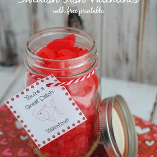 Swedish Fish Valentines Jar.