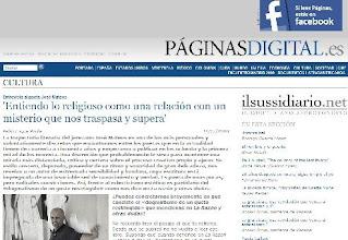 """Photo: Páginas Digital (paginasdigital.es, Crítica """"Eros es más"""", Juan Antonio González Iglesias (ene 2007), entrevistas (José Mateos - dic. 2008, Beatriz Villacañas - dic. 2011, Carmen Pallarés - may 2013)"""
