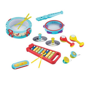 Set instrumente muzicale pentru copii, 15 piese, multicolor