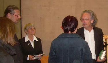 Photo: before a reading in his home district, Neuhaus/Voelkermarkt