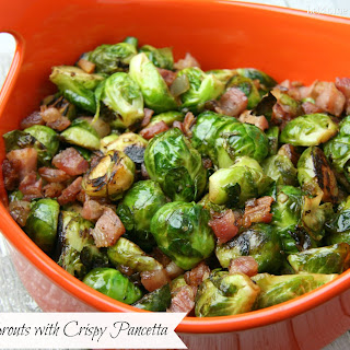 Brussel Sprouts with Crispy Pancetta